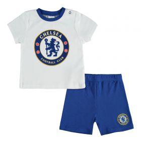 Chelsea Crest Short Pyjama Set - Blue/White - Baby