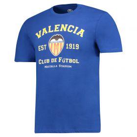 Valencia CF Established 1919 T-Shirt - Cobolt Blue - Mens