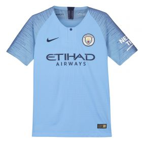 Manchester City Home Vapor Match Shirt 2018-19 - Kids with Champions 19 printing