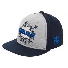 Chelsea Embroidered Cap - Navy/Grey - Kids
