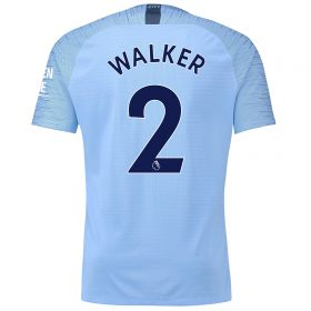 Manchester City Home Vapor Match Shirt 2018-19 with Walker 2 printing