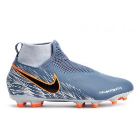 Nike Phantom VSN Academy Firm Ground Football Boots - Grey - Kids