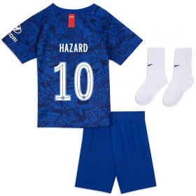 Chelsea Home Cup Stadium Kit 2019-20 - Infants with Hazard 10 printing