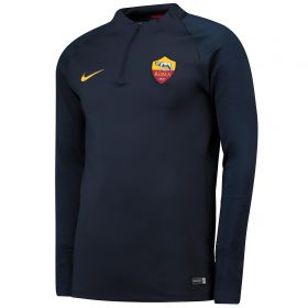 AS Roma Strike Training Drill Top - Navy