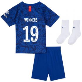 Chelsea Home Cup Stadium Kit 2019-20 - Infants with Winners 19 printing