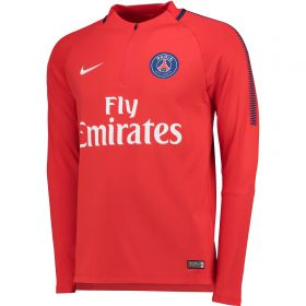 Paris Saint-Germain Squad Drill Top - Red