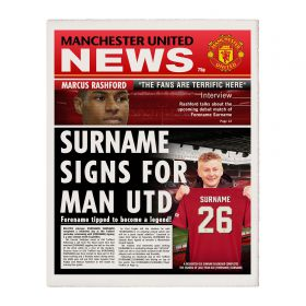 Manchester United Personalised Newspaper Single Page