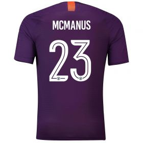 Manchester City Third Cup Vapor Match Shirt 2018-19 with McManus 23 printing