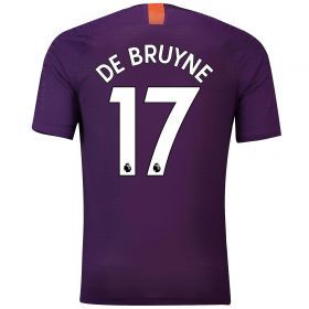 Manchester City Third Vapor Match Shirt 2018-19 with De Bruyne 17 printing