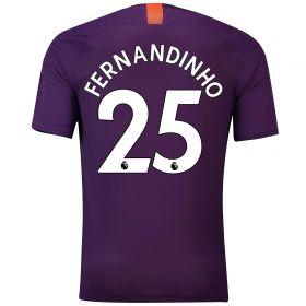 Manchester City Third Vapor Match Shirt 2018-19 with Fernandinho 25 printing