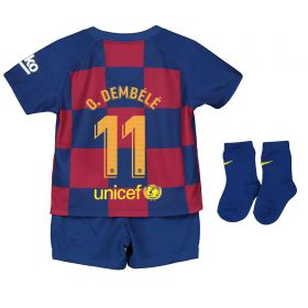 Barcelona Home Stadium Kit 2019-20 - Infants with O. Dembélé 11 printing