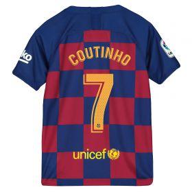 Barcelona Home Stadium Shirt 2019-20 - Kids with Coutinho 7 printing