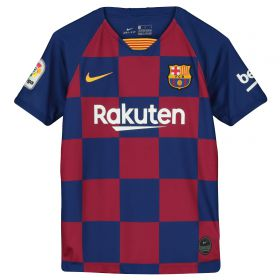 Barcelona Home Stadium Shirt 2019-20 - Kids with O. Dembélé 11 printing