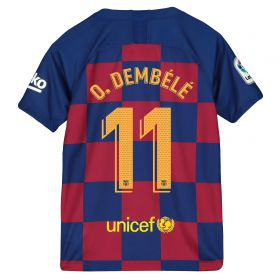 Barcelona Home Stadium Shirt 2019-20 - Kids with O. Dembélé 11 printing