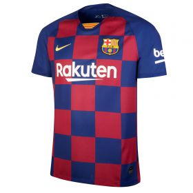 Barcelona Home Stadium Shirt 2019-20 with Suárez 9 printing