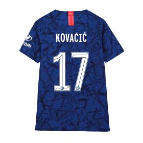Chelsea Home Cup Vapor Match Shirt 2019-20 - Kids with Kovacic 17 printing