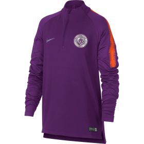 Manchester City Squad Drill Top - Purple - Kids