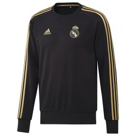 Real Madrid Training Sweat Top - Black