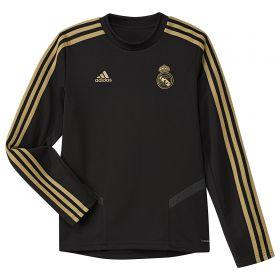 Real Madrid LS Training Top - Black - Kids