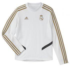 Real Madrid LS Training Top - White - Kids