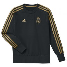 Real Madrid Training Sweat Top - Black - Kids