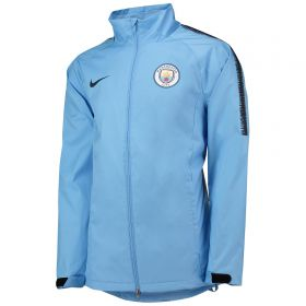 Manchester City Coaches Rain Jacket - Light Blue