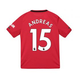 Manchester United Home Shirt 2019 - 20 - Kids with Andreas 15 printing