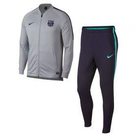 Barcelona Squad Knit Tracksuit - Grey