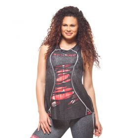 Дамски Потник EX FIT Training Top Red Muscle