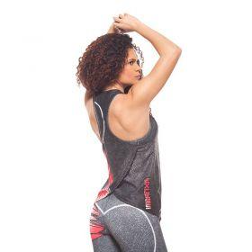 Дамски Потник EX FIT Training Top Red Muscle