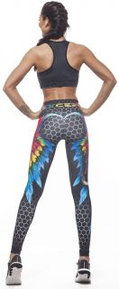 Дамско Бюстие EX FIT Sports Bra Colorful Wings