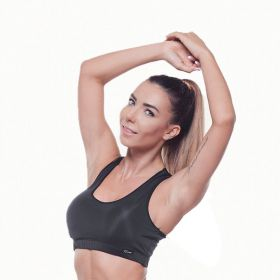 Дамско Бюстие EX FIT Sports Bra Black Basic