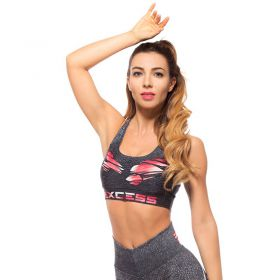 Дамско Бюстие EX FIT Sports Bra Red Muscle