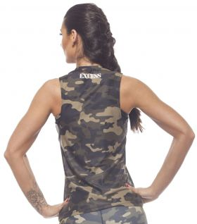 Дамски Потник EX FIT Training Top Camouflage