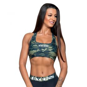 Дамско Бюстие EX FIT Sports Bra Camouflage
