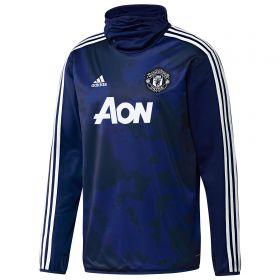 Manchester United Pre Match Warm Top - Blue