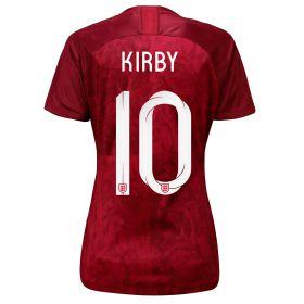 England Away Stadium Shirt 2019-20 - Women's with Kirby 10 printing