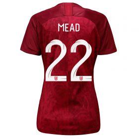 England Away Stadium Shirt 2019-20 - Women's with Mead 22 printing