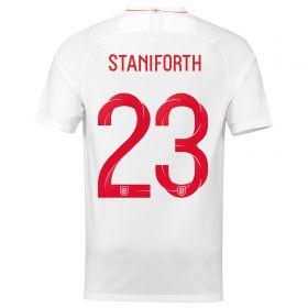 England Home Stadium Shirt 2018 with Staniforth 4 printing