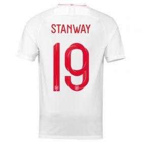 England Home Stadium Shirt 2018 with Stanway 10 printing