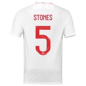 England Home Stadium Shirt 2018 with Stones 5 printing