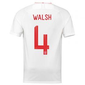 England Home Stadium Shirt 2018 with Walsh 4 printing