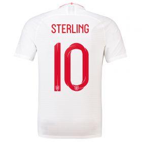 England Home Vapor Match Shirt 2018 with Sterling 10 printing
