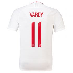 England Home Vapor Match Shirt 2018 with Vardy 11 printing