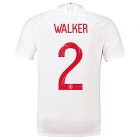 England Home Vapor Match Shirt 2018 with Walker 2 printing