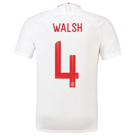 England Home Vapor Match Shirt 2018 with Walsh 4 printing