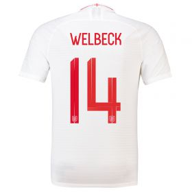 England Home Vapor Match Shirt 2018 with Welbeck 14 printing