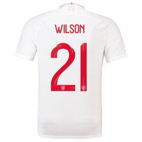 England Home Vapor Match Shirt 2018 with Wilson 23 printing