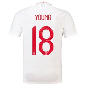 England Home Vapor Match Shirt 2018 with Young 18 printing