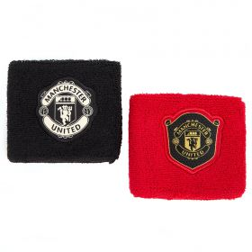 Manchester United Wrist Bands - Black/Red